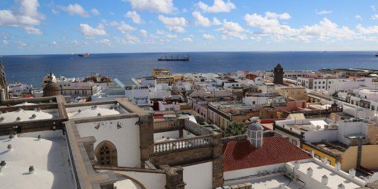 Vistas al mar desde la Catedral de Canarias
