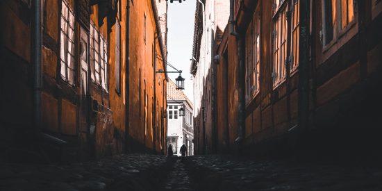 Calles de Aarhus Dinamarca