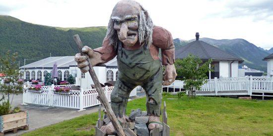 Troll en Andalsnes Noruega