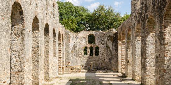 The great Basilica ruinas Butrinto Albania