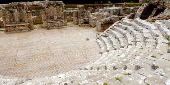 Parque nacional de Butrinto yacimientos arqueológicos