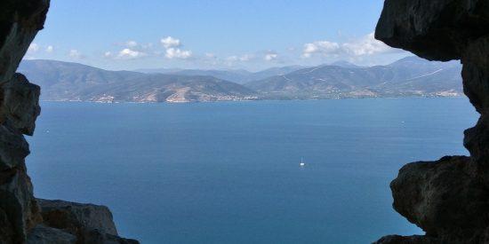 Espectaculares vistas desde la Fortaleza de Palamidi en Grecia