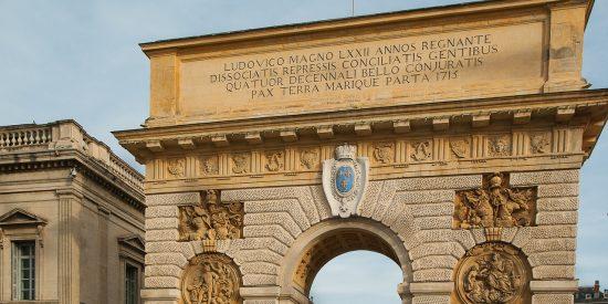 Puertas de la ciudad en Montpellier