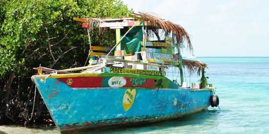 Barco en Belice crucero